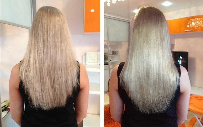 Эффект от процедуры экранирование волос