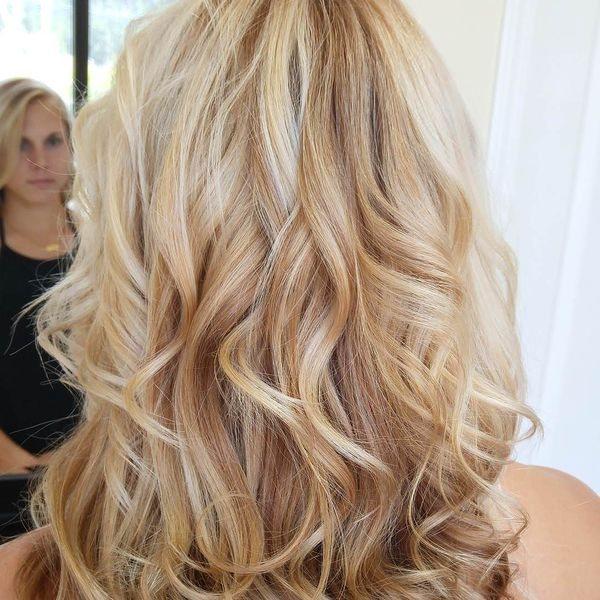 эффект выгоревших волос на блондинках