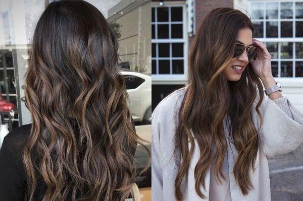 эффект выгоревших волос на длинные
