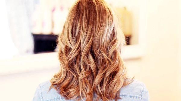 эффект выгоревших волос на рыжих