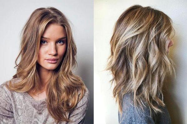 эффект выгоревших волос на среднюю длину