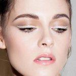 Эффектный макияж с помощью белой подводки