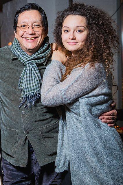Егор Кончаловский с дочерью