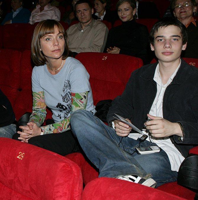 Екатерина Семенова с сыном Никитой Табаковым Фото: Рамиль ГАЛИ