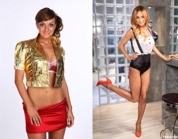 Екатерина Варнава до и после похудения