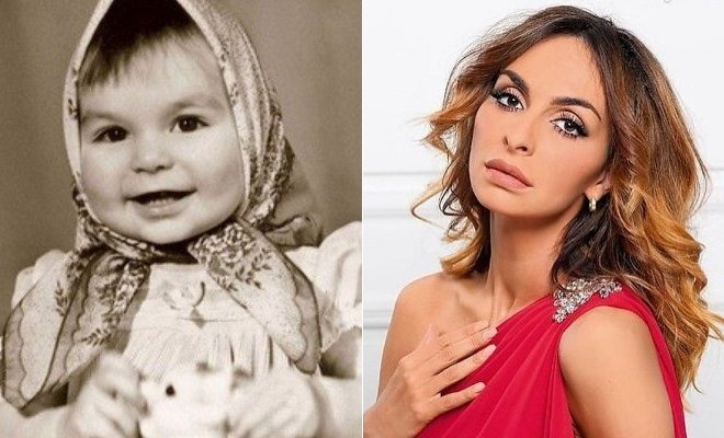 Екатерина Варнава в детстве и сейчас