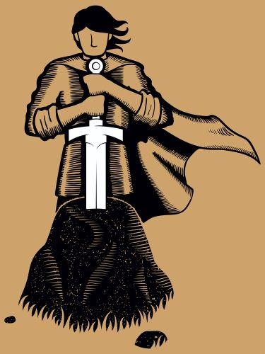 Экскалибур, меч короля Артура (в камне)