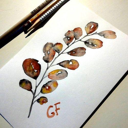Эскиз для тату, растения
