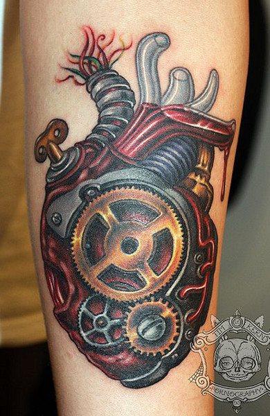 эскиз татуировка сердце