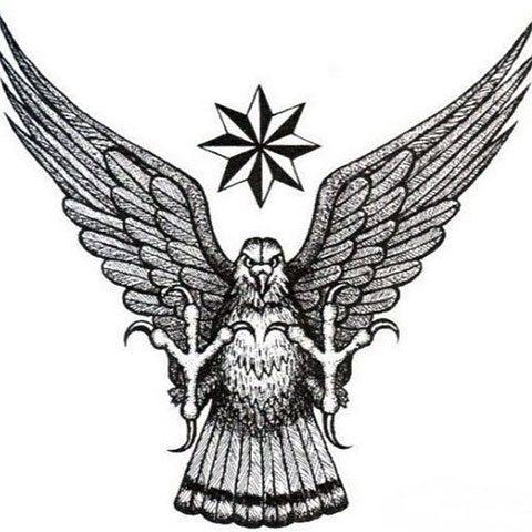 Эскиз уголовной татуировки орла