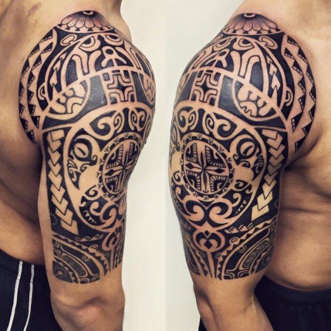 эскизы тату полинезия
