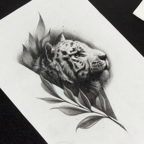 Эскизы тату с тигром, Crazy Tattoo