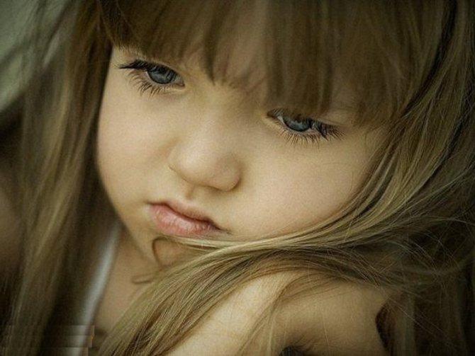Если малышка сердится и грустит,