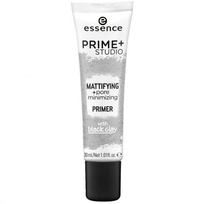 Essence матирующий праймер Prime Studio Mattifying Pore Minimizing Primer with Black Clay.jpg