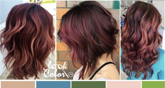 Естественный красный цвет волос