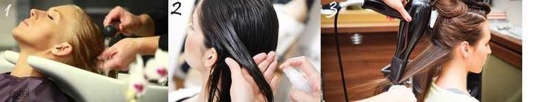Этапы экранирования волос в домашних условиях с помощью Эстель