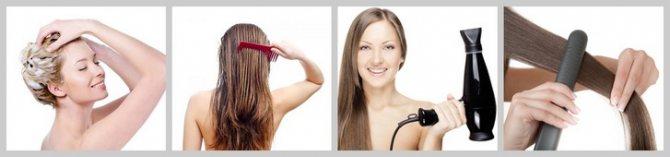 Этапы кератинового выпрямления волос