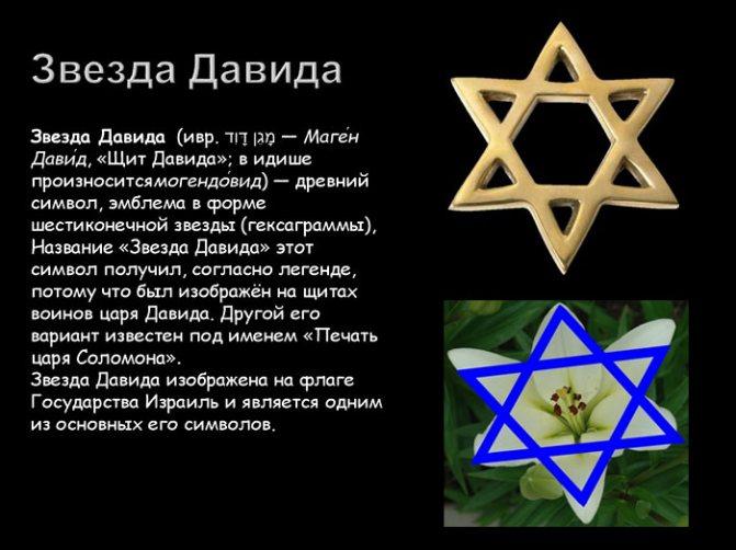 Еврейский символ - звезда Давида