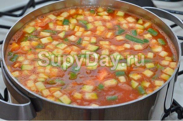 Фасолевый суп по-быстрому