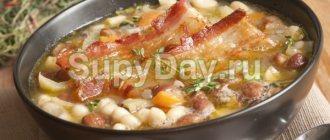 Фасолевый суп с консервированной фасолью
