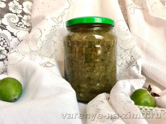 Фейхоа перетертая с сахаром рецепт на зиму без варки: фото 1