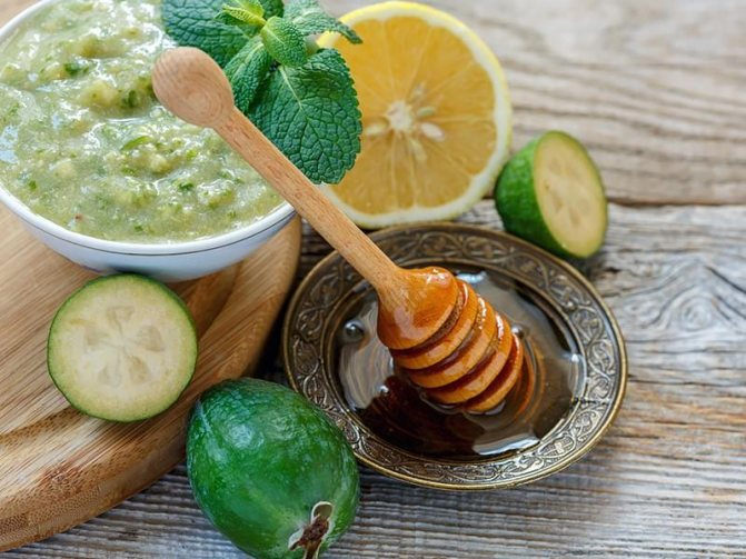 Фейхоа с лимоном и мёдом