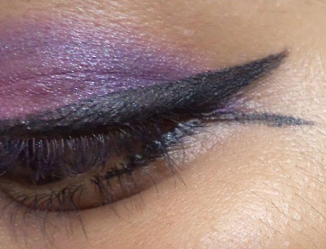 Фиолетовый глаз Макияж учебник-создать рыбий хвост