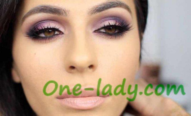 Фиолетовый макияж фото