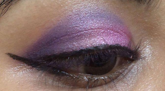 Фиолетовый Макияж Глаз-Линия Вашей Верхней Линии Ресниц