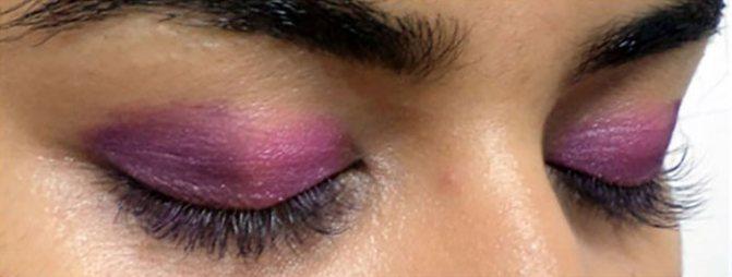 Фиолетовый Макияж Глаз-Нанесите Фиолетовый Оттенок
