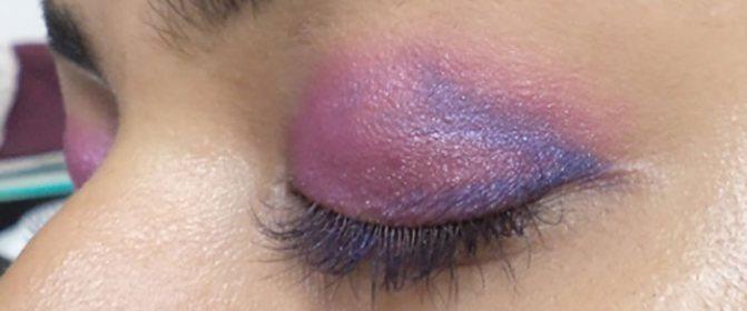 Фиолетовый Макияж Глаз-Нанесите Синий Оттенок