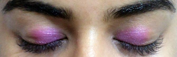 Фиолетовый Макияж Глаз-Нанесите Ярко-Розовый Цвет