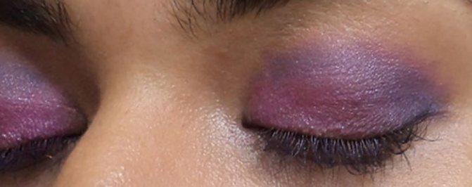 Фиолетовый Макияж Глаз-Смешайте Синий Оттенок
