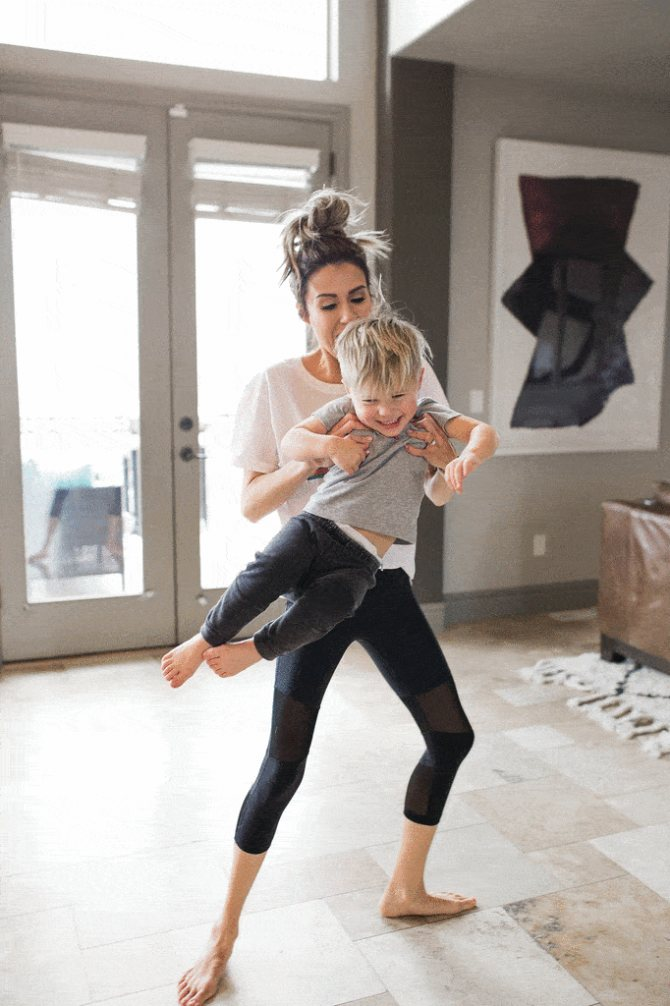 фитнес с ребенком
