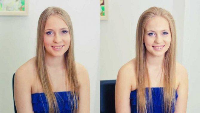 флисинг для волос - до и после 2