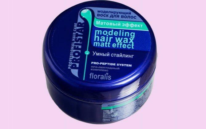 Floralis Матовый эффект - обзор воска для волос для мужчин