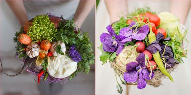Флорист с легкостью составит из овощей произведение искусства
