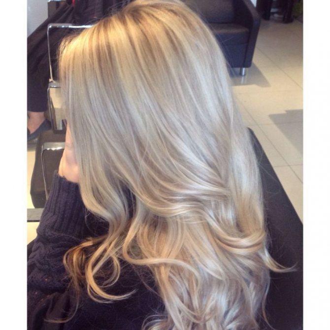 фото цвет волос жемчужный блонд