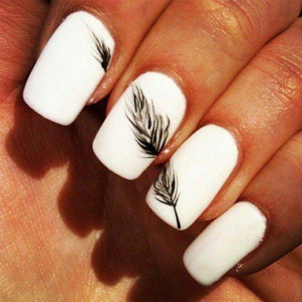 фото дизайна черно-белых ногтей