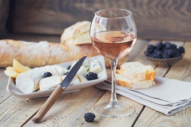 фото как правильно пить розовое вино