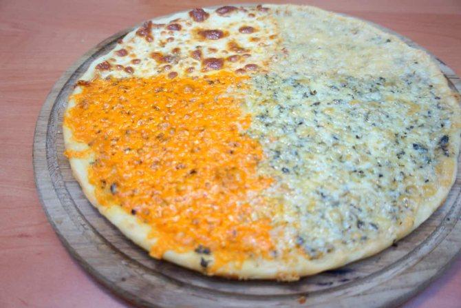 фото пиццы 4 сыра