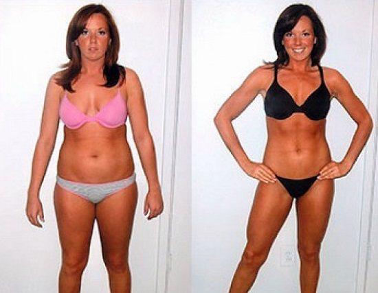 Фото похудения до и после прыжков через скакалку