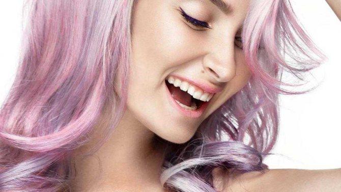 Фото розового цвета волос