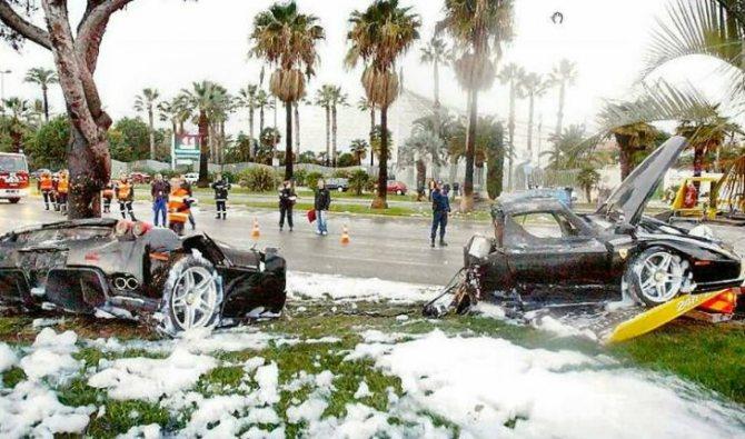 Фото с места аварии, в которую попали Тина Канделаки и Сулейман Керимов