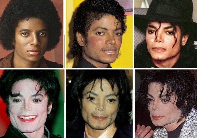 Фотографии Майкла Джексона разных лет