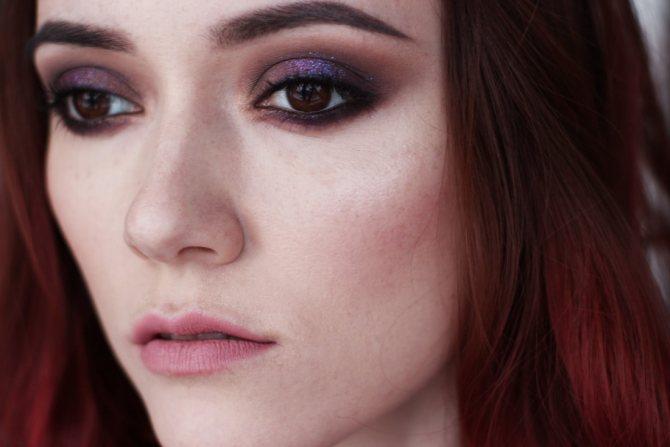 Фотоурок: вечерний макияж с фиолетовыми тонами
