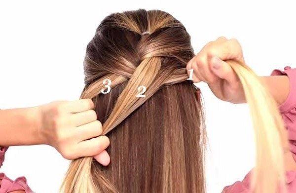 Как сделать французскую косу наоборот