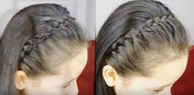 Французская коса-ободок