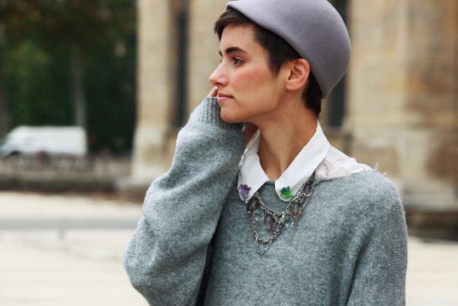 Французский парижский шик в одежде на улицах