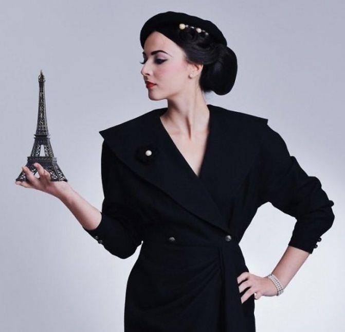 Французский парижский шик в одежде - строгий черный цвет